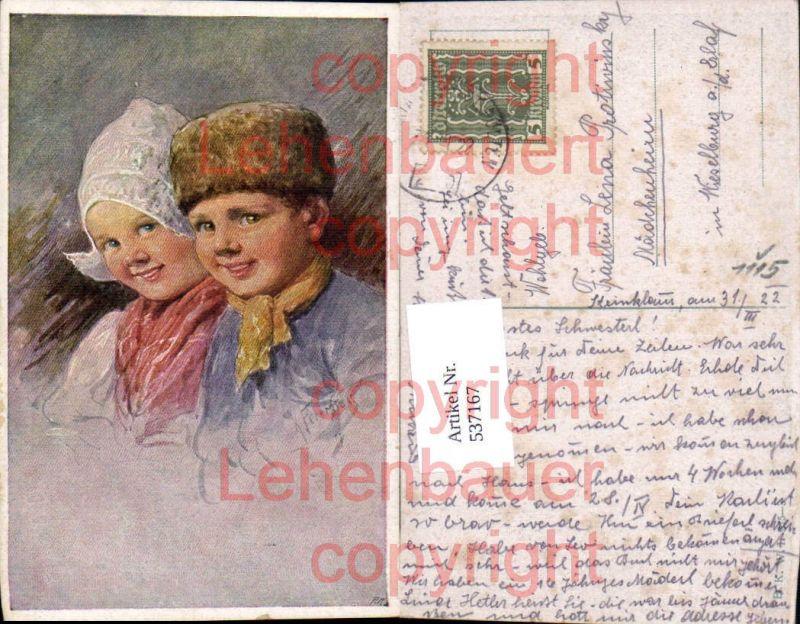 tolle Künstler AK Karl Feiertag Kinder pub B.K.W.I 975-3