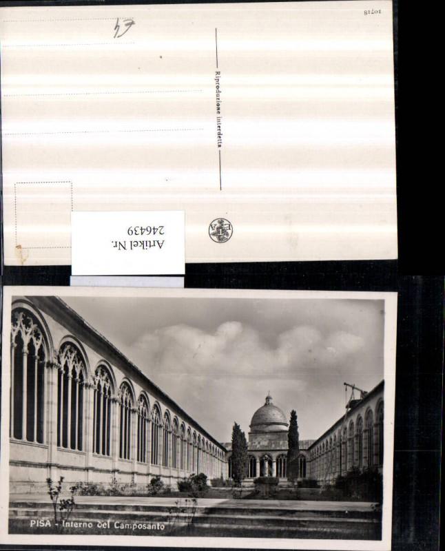 Pisa Interno del Camposanto Friedhofsanlage Kirche