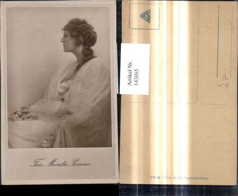 Künstler Ak H. C. Kosel Frau Marietta Piccaver Schauspielerin