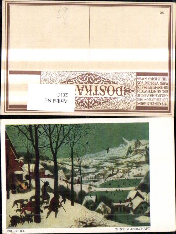 Künstler Ak Bruegel Winterlandschaft