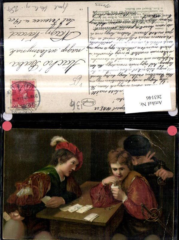 Stengel Co 29623 Michelangelo da Caravaggio Die Falschspieler Männer Kart