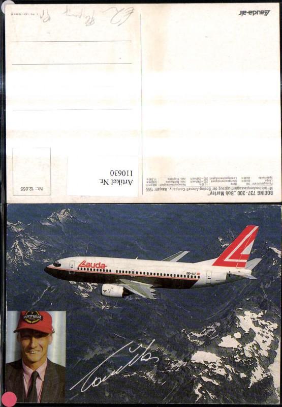 Verkehrsflugzeug Flugzeug Lauda Air Laudaair Boeing 737-300 Bob Marley Ni