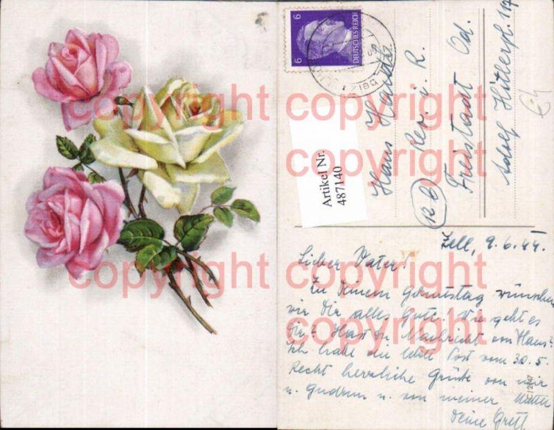 blumen rosa rosen bl ten zweige nr 134324 oldthing. Black Bedroom Furniture Sets. Home Design Ideas