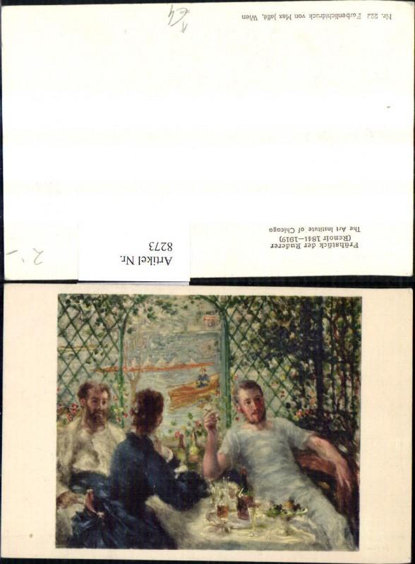 Künstler Ak Renoir Frühstück d. Ruderer