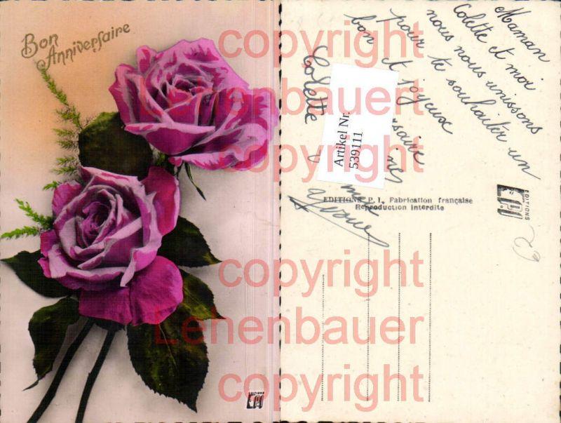 tolle litho blumen blume rose rosen nr 539515 oldthing. Black Bedroom Furniture Sets. Home Design Ideas