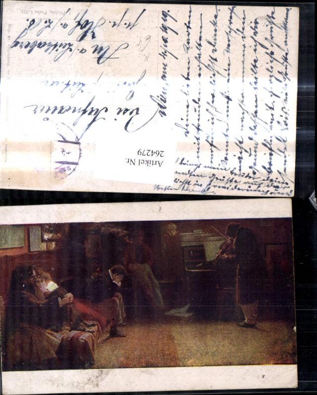 Künstler Ak Lionello Balestrieri Beethoven Mann spielt Geige