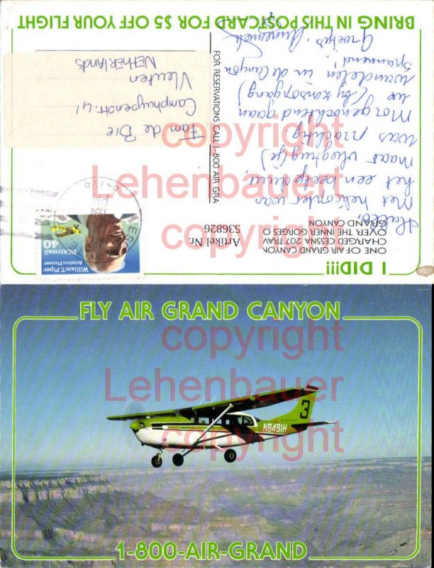 Aviaktik Flugzeug Fly Air Grand Canyon Cessna 207