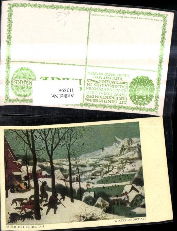 Künstler Ak Peter Brueghel d. Ältere Winterlandschaft