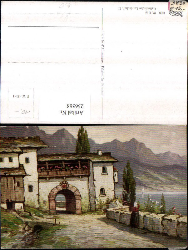 Degi AK 1408 Künstler W. Hoy Italienische Landschaft Tor Durchgang Bergku