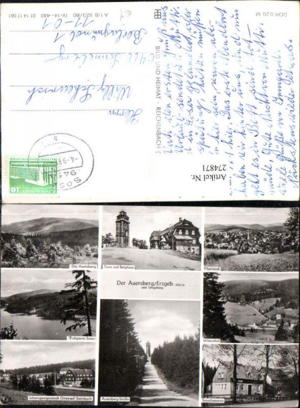 Auersberg im Erzgebirge Eibenstock Wildenthal Talsperre Sosa Sauschwemme