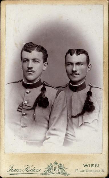 CDV K.k. Soldaten Uniform Ordensspange pub Franz Hodura Wien Favoriten