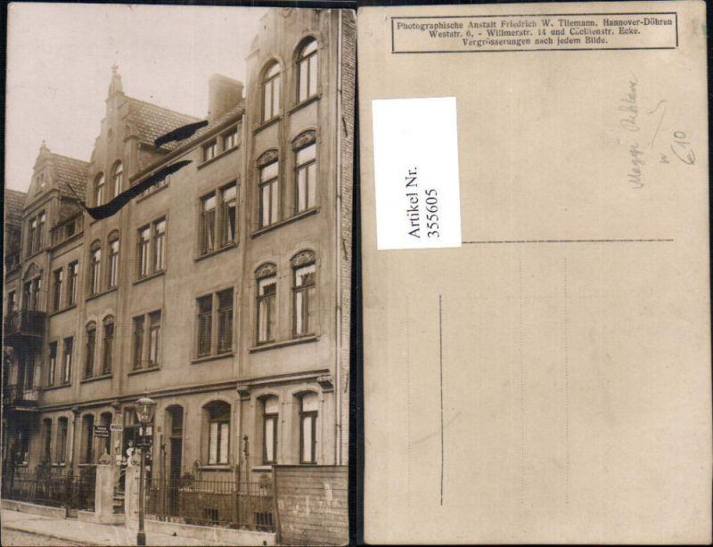 Reklame Haus Gebäude m. Maggi Reklameschild Geschäft Frau Kind Hannover