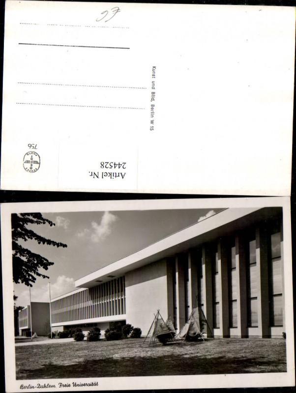 Berlin Dahlem Freie Universität