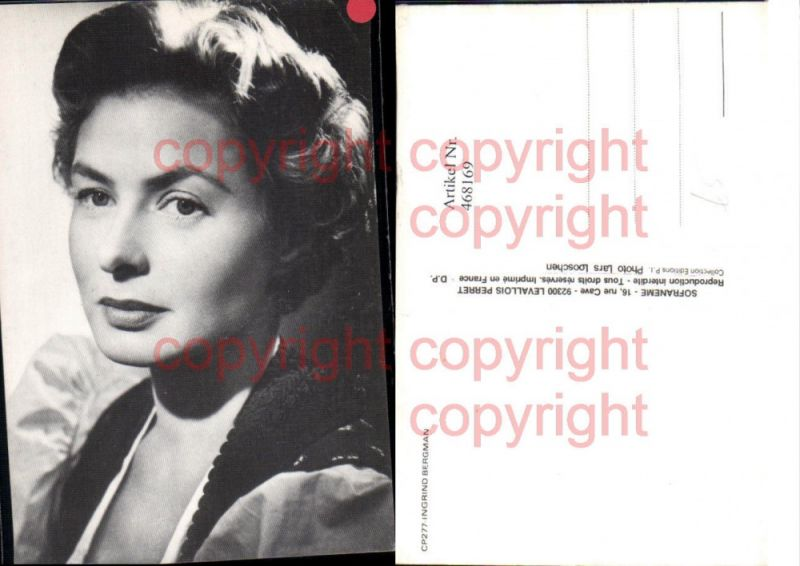 Schauspielerin Ingrid Bergman Portrait