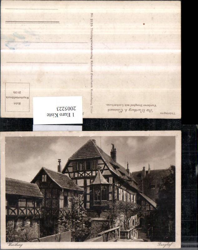 Thüringen Wartburg b. Eisenach Vorderer Burghof m. Lutherhaus