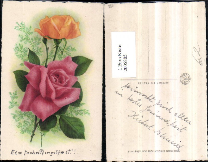 ak zeit der rosen liebespaar beim pfl cken von rosenbl ten nr 6442481 oldthing sonstige. Black Bedroom Furniture Sets. Home Design Ideas
