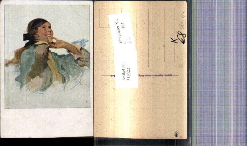 Künstler Ak Brynolf Wennerberg Frau Portrait