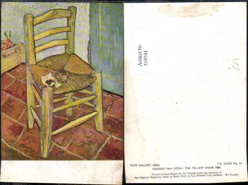 Künstler Ak Vincent van Gogh The Yellow Chair 1888 Gelber Stuhl Pfeife