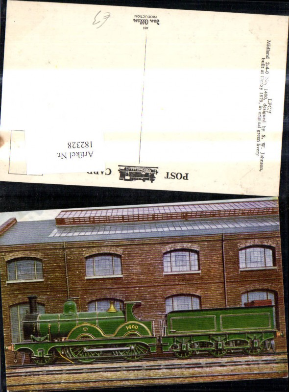 Eisenbahn Zug Lokomotiven Train Dampflok 1400 Midland