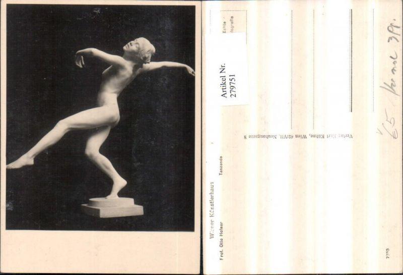 Wiener Künstlerhaus 7833 Künstler Prof. Otto Hofner Tanzende Erotik Frau