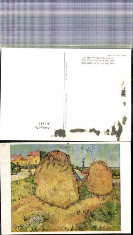 Künstler Ak Vincent van Gogh Haystacks in Provence Heinzen Heureitern