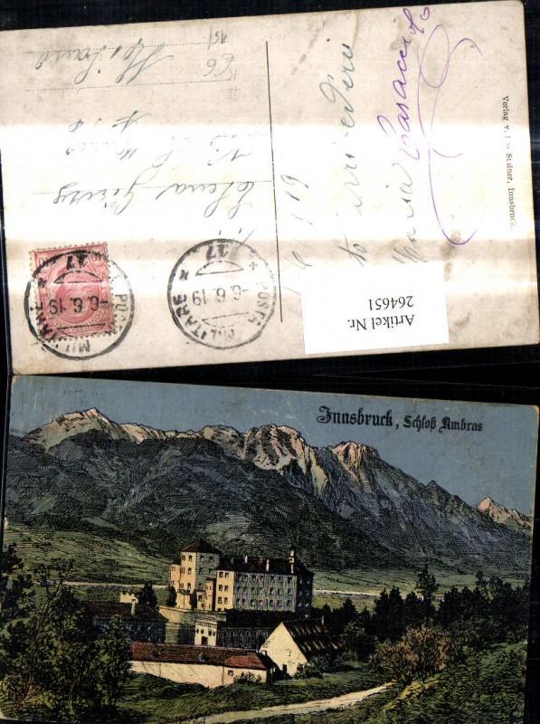 Künstler Ak Eugen Felle Innsbruck Schloß Ambras