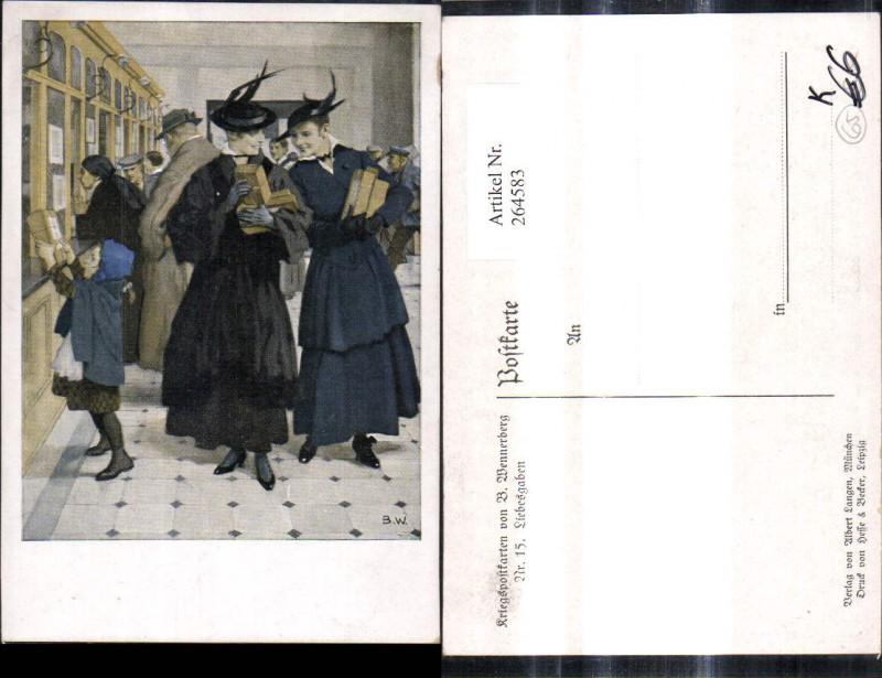 Künstler Ak Brynolf Wennerberg 15 Liebesgaben Frauen Post Geschenke Paket