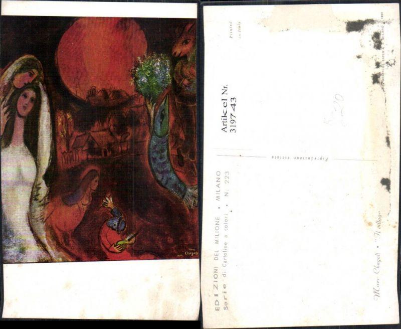 Künstler Ak Marc Chagall Il villaggio