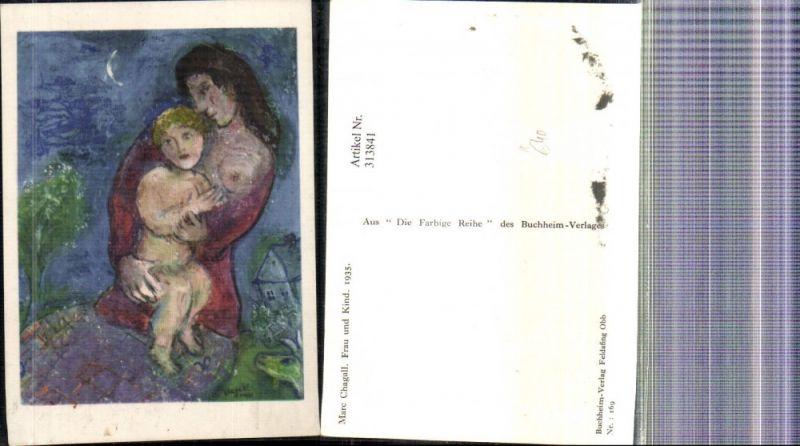Künstler Ak Marc Chagall Frau u. Kind 1935