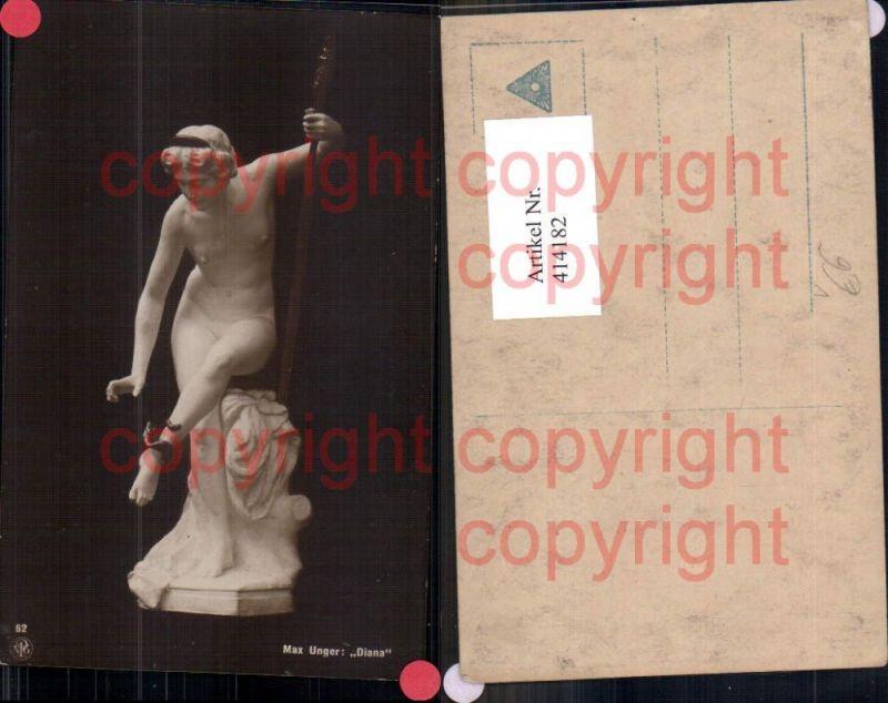 Max Unger Diana Nackte Frau Statue Schlange Bogen Jagd Erotik pub NPG 62
