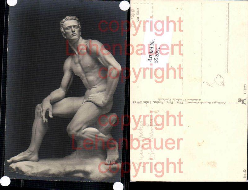 Foto-AK Arno Breker Die Berufung Erotik Akt Statue pub Film Foto Verlag 2
