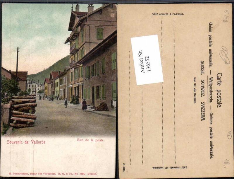 Souvenir de Vallorbe Rue de la Poste Kt Waadt