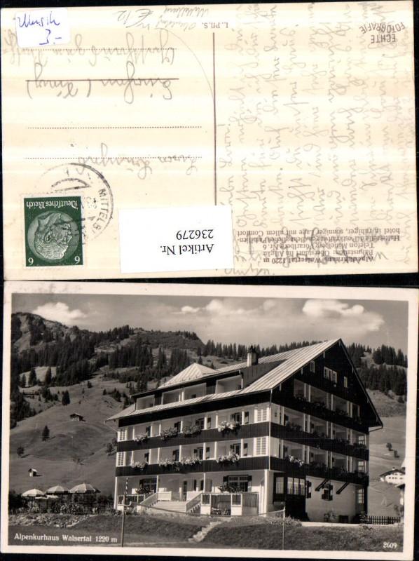 Alpenkurhaus Walsertal b. Oberstdorf im Allgäu Mittelberg
