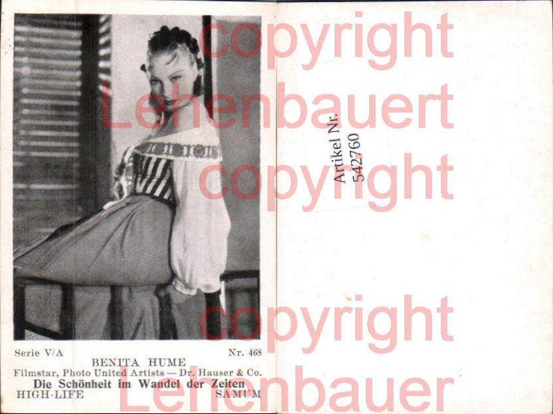 Movie Star Benit Hume Samum High Life Card 468