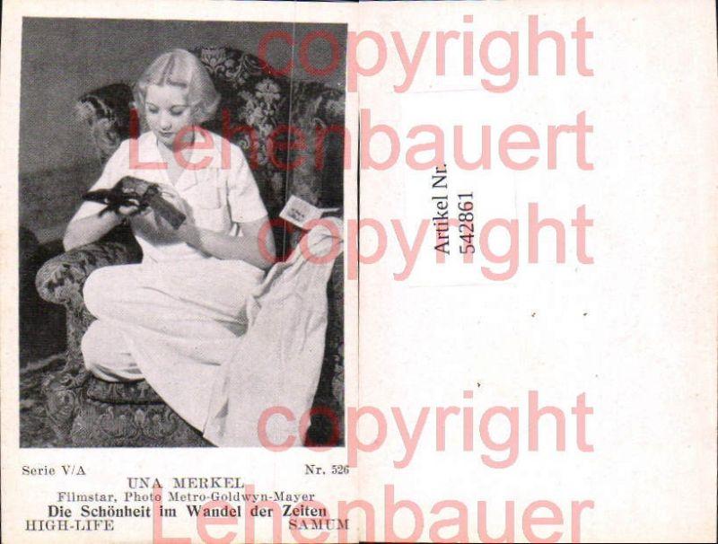 Movie Star Una Merkel Samum High Life Card 526