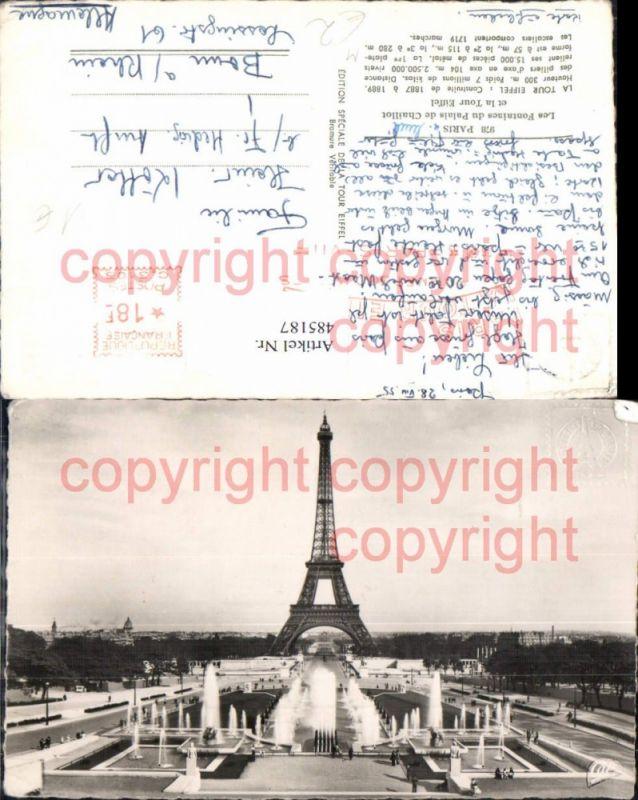 Turm Paris Eiffelturm Tour Eiffel Les Fontaines du Palais de Chaillot