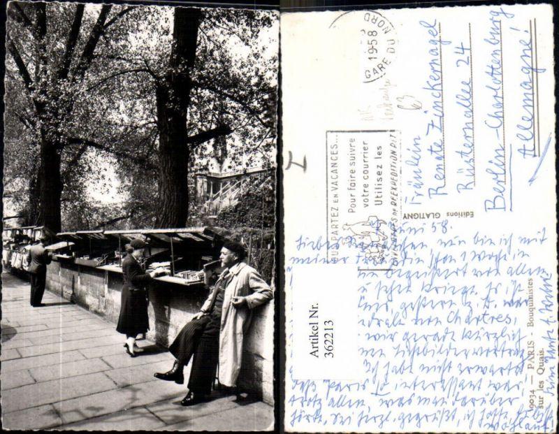 Foto Ak Paris Bouquinistes sur les Quais Verkäufer Ansichtskarten Bücher