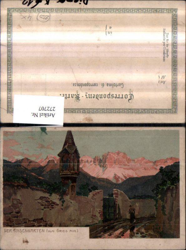 Künstler AK Zeno Diemer Der Rosengarten von Gries aus Bildstöckl Bergkuli