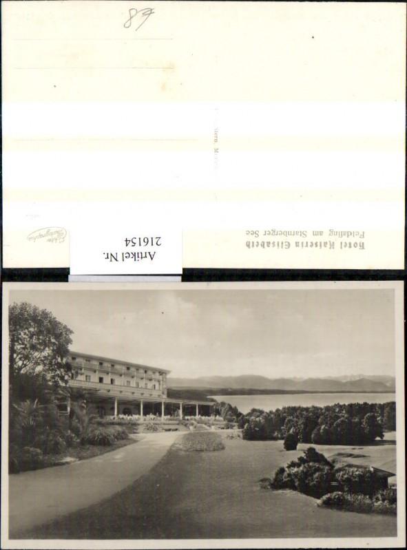 Foto Ak Feldafing a. Starnberger See Hotel Kaiserin Elisabeth