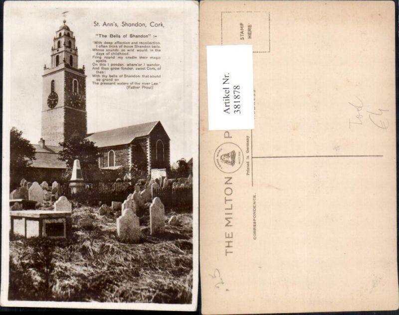 Kirche St Anns Shandon Cork The Bells of Shandon Tod Friedhof Gräber
