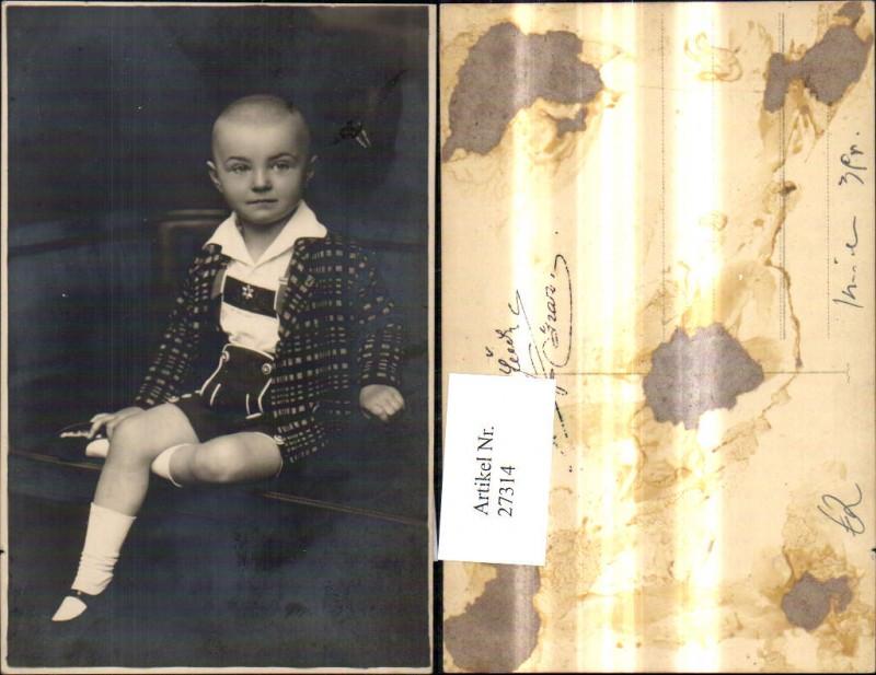 Kind Junge Bub Tracht Anzug