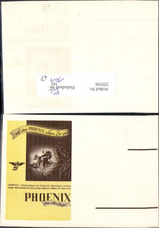 Reklame Phoenix Nähmaschinen m. Zickzack