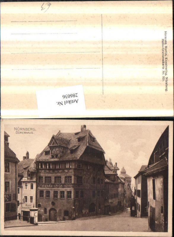 Nürnberg Dürerhaus Straßenansicht