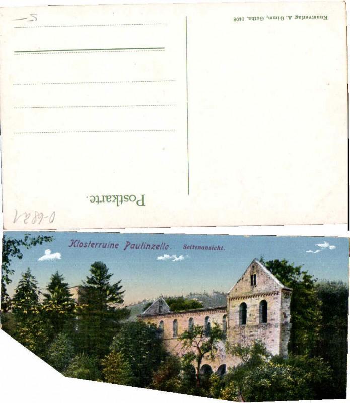58555;Klosterruine Paulinzella Paulinzelle Leute COLOR