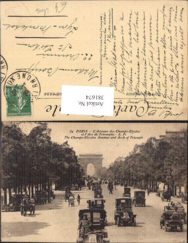 Auto Verkehr Kutschen Paris L Avenue des Champs-Elysees et l Arc de Triom