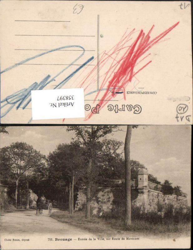 Poitou-Charentes Charente-Maritime Brouage Entree de la Ville sur Route d