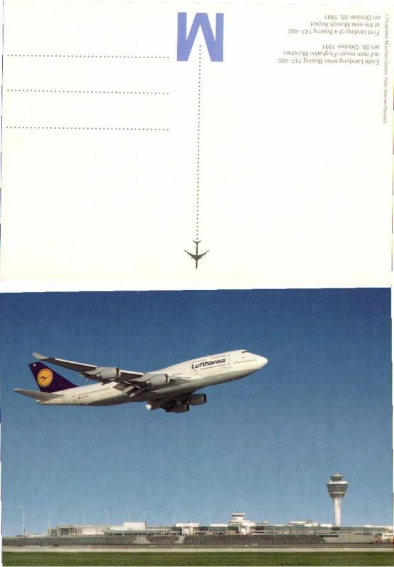 55868;München Flughafen Boeing 747-400 Lufthansa