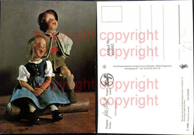 Elli Riehl Bub Mädchen Tracht Hol-la-da-rai-di-o Puppe Spielzeug pub Fran
