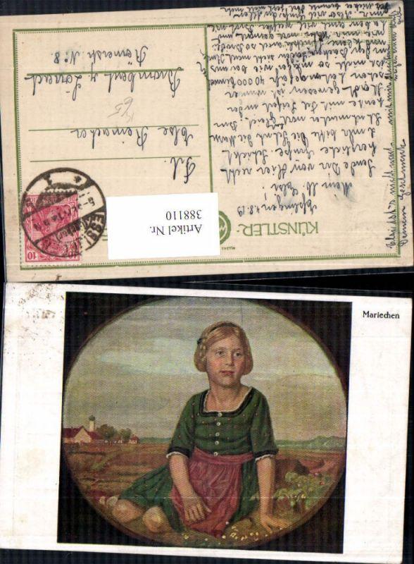 Künstler Ak Kraus Mariechen Kind Mädchen Tracht Passepartout