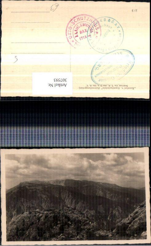Raxalpe vom Krumbachstein b. Bürg-Vöstenhof Bergkulisse